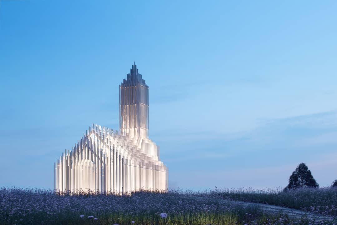 طراحی کلیسا با نوآوری در فضای باز