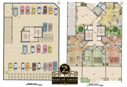 طراحی ساختمان مسکونی 5 طبقه 24 واحدی