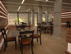 طراحی داخلی رستوران جنب پارک دانشجو