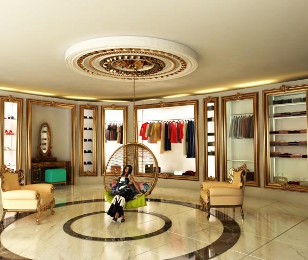 طراحی اتاق لباس